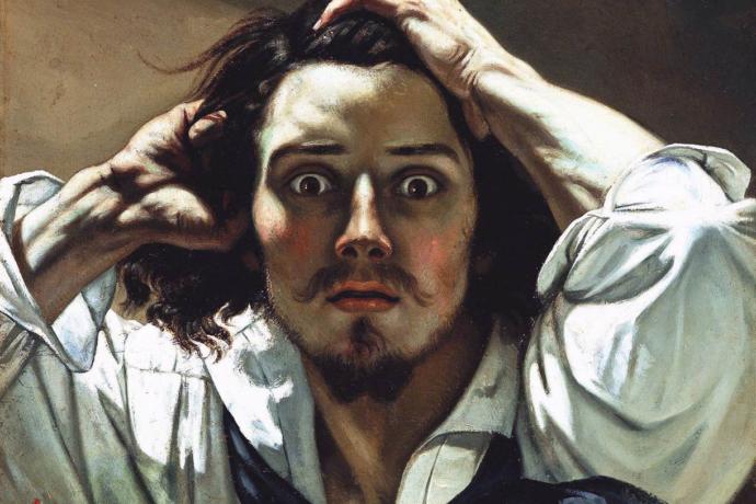 Le désespéré de Gustave Courbet, huile sur toile datée de 1844 et 1845