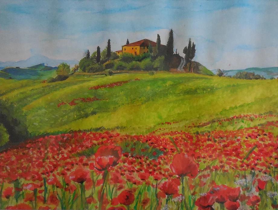 paysage_de_toscanne_aquarelle_coquelicot__portrait_de_metier_#2_place_plume