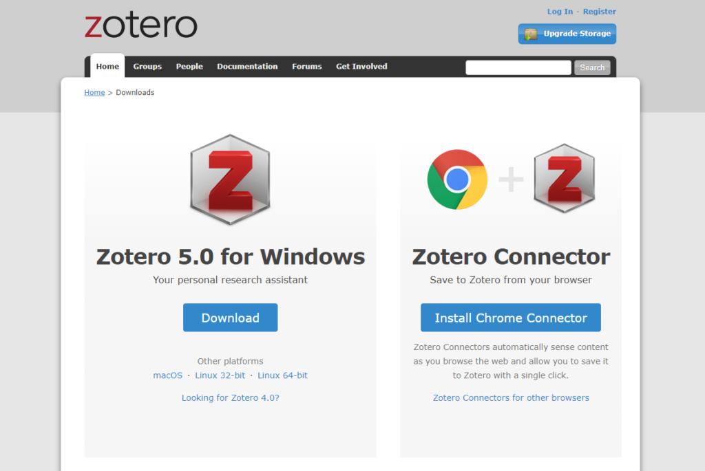 Télécharger le logiciel et l'extension de Zotero pour Chrome