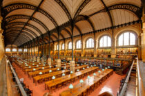 salle de lecture de la bibliothèque Sainte-Genevieve (Pantheon) à paris