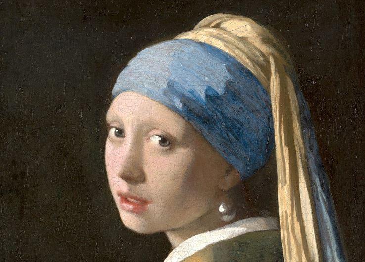 jeune fille à la perle de Vermeer - pile à lire